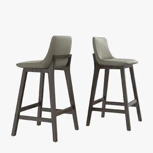 3D poliform ventura stool massaud