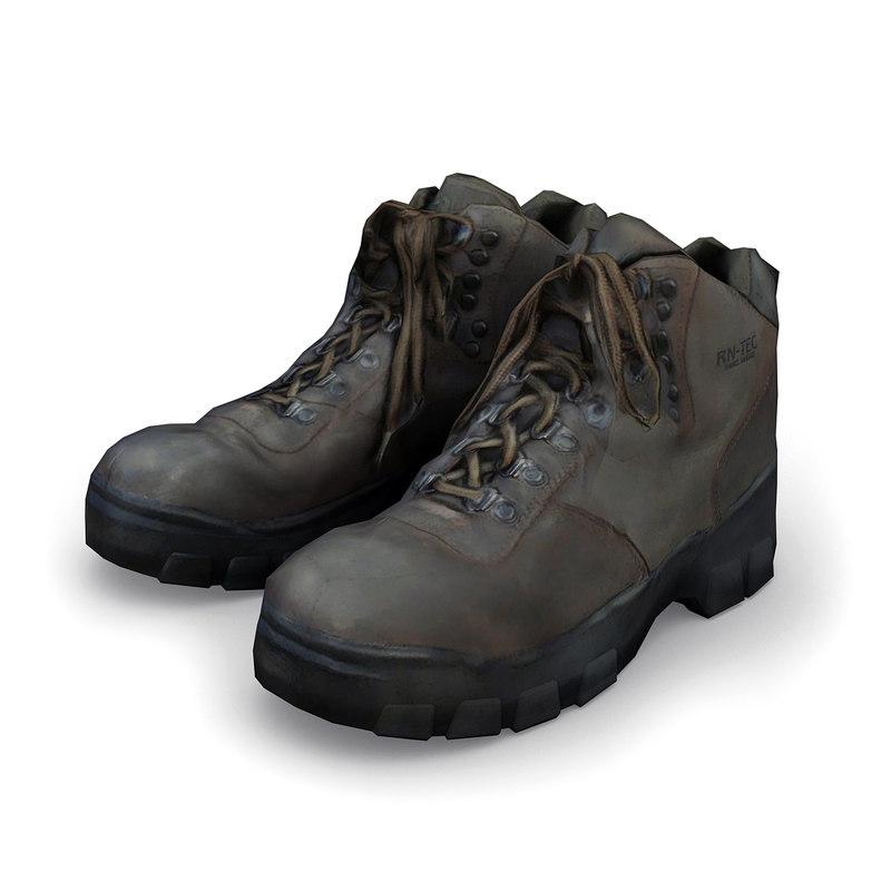 3d hiking boots model
