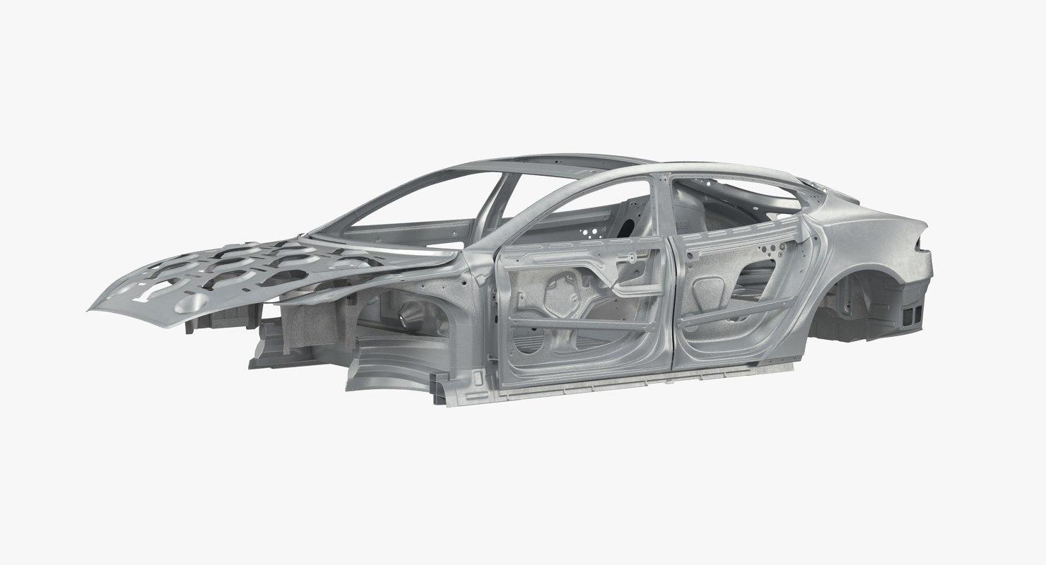 3D car frames rigged s model - TurboSquid 1214502