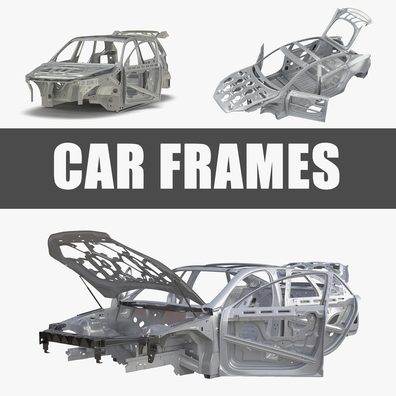 3D car frames rigged s model