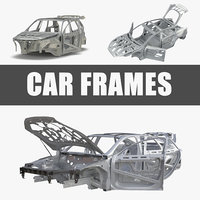 Car Frames Rigged 3D Models Collection