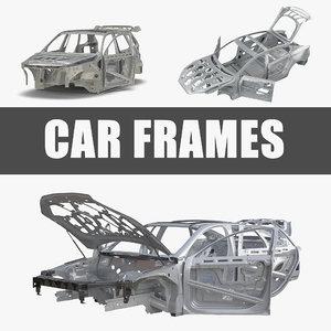 3D car frames rigged s model