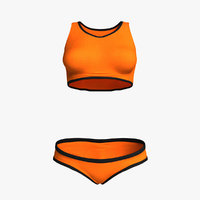 3D women s clothes fitness model