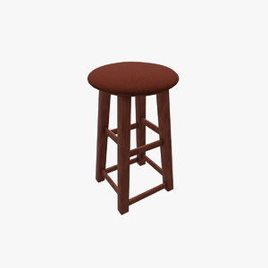 kitchen stool 3D model