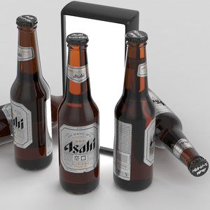 3d model bottle asahi