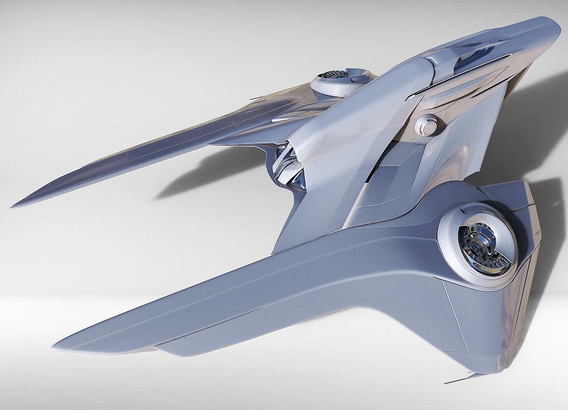 spaceship futuristic 3d model