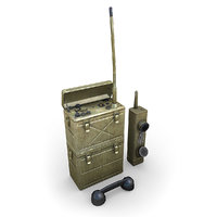 war american radios 3d max