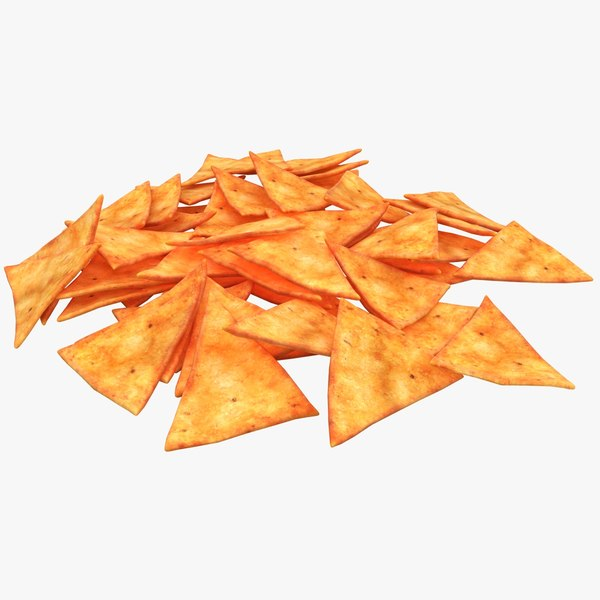 3d realistic tortilla chip model