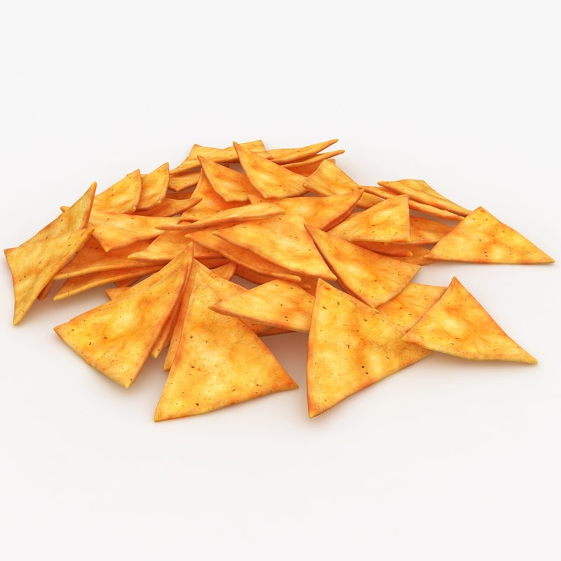 3ds realistic tortilla chip 2
