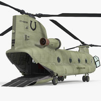 US Army Transport Helicopter CH-47 Chinook Rigged