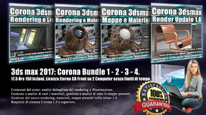 Corona in 3dsmax 2017 Bundle Vol 1 - 2 - 3 - 4 -Cd Front