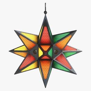 max star lantern colorful