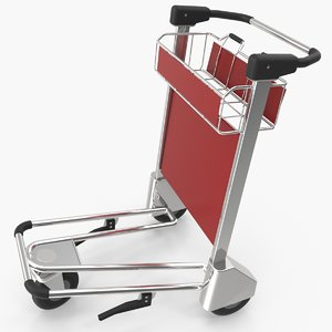 3d model airport luggage cart