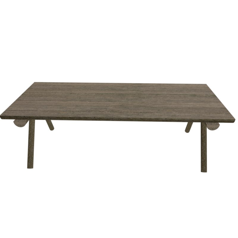 old wooden table 3d obj
