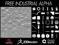 Free Industrial Alpha Zbrush
