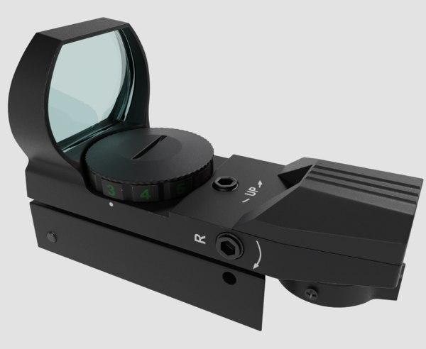 reflector sight 3D model