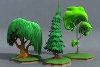 Cartoon Stylised Trees