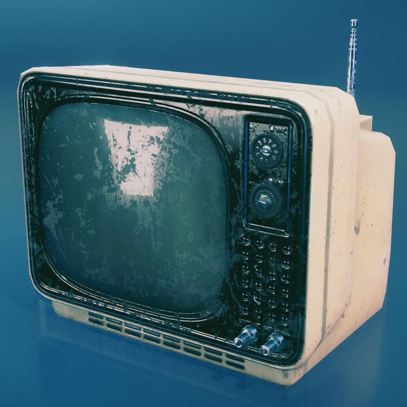 3d ready vintage tv model