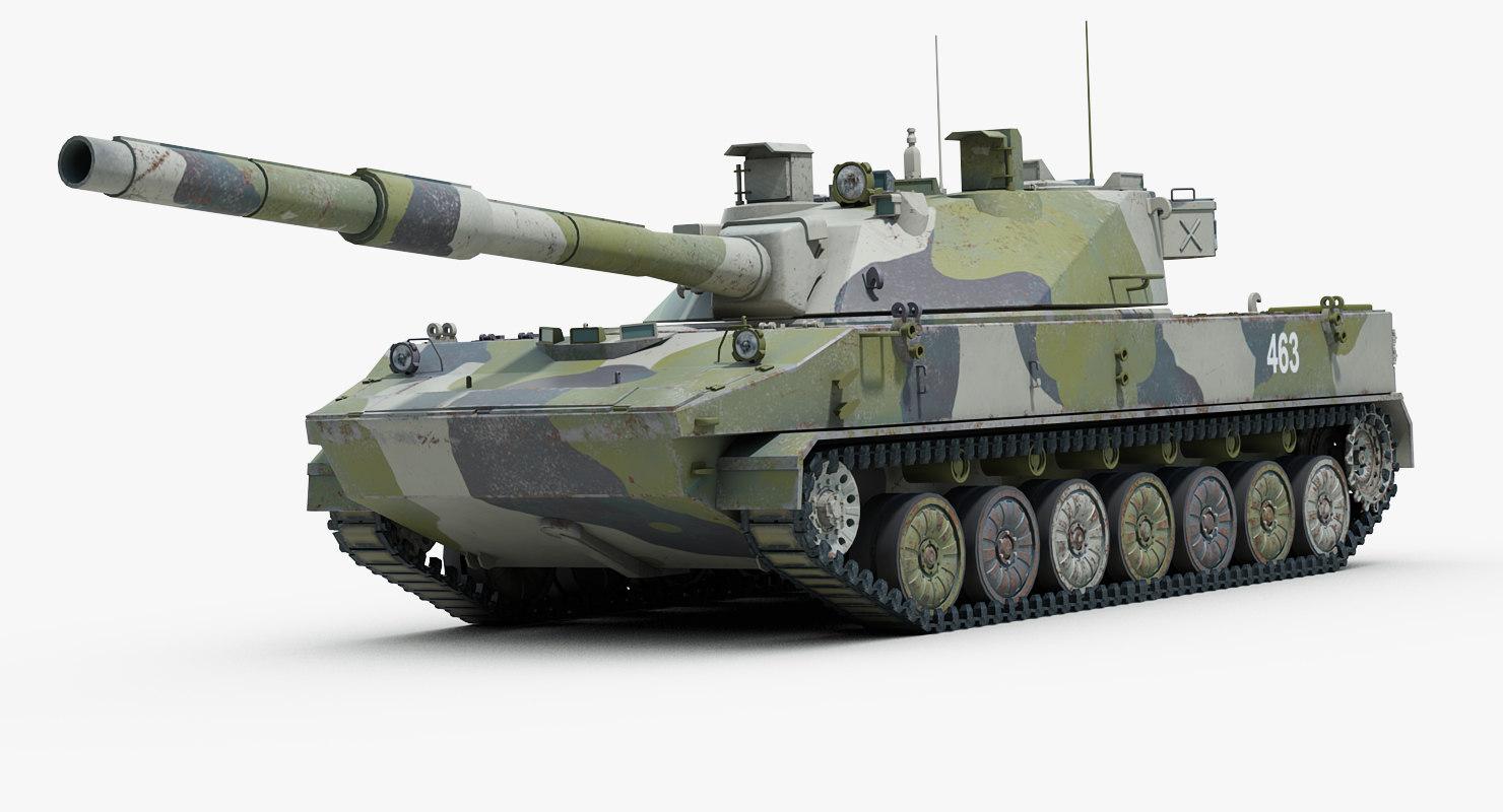 3d model of 2s25 sprut russian