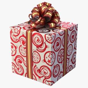 realistic gift box 03 3D model