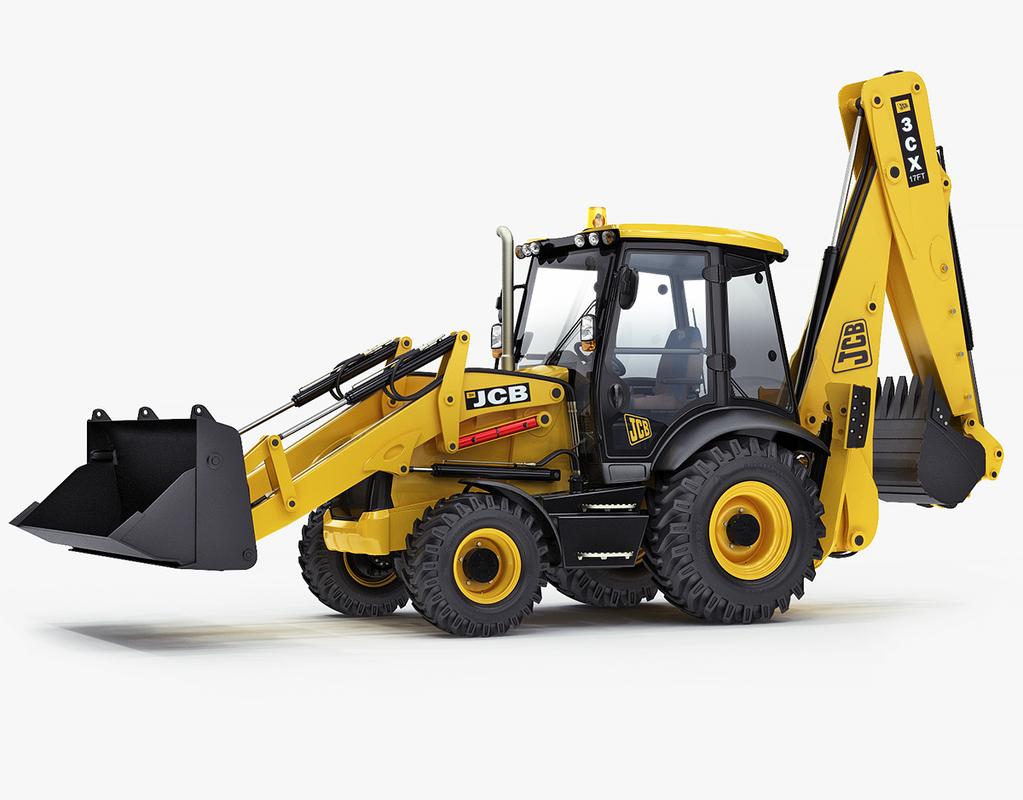 backhoe loader 3cx 3d max