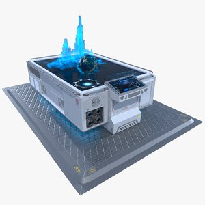 3d model of sci-fi table hologram