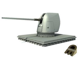 3d model 5 inch gun