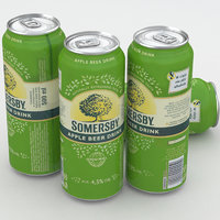 beer somersby apple 3d model