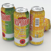 beer desperados 3d max