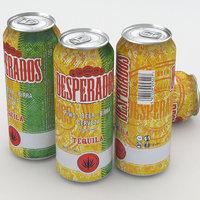 beer desperados 3d max