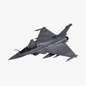 3d rafale b military aircraft