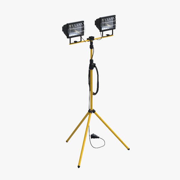 3d model halogen lamp