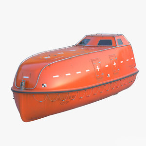 3d model of lifeboat sea rescue