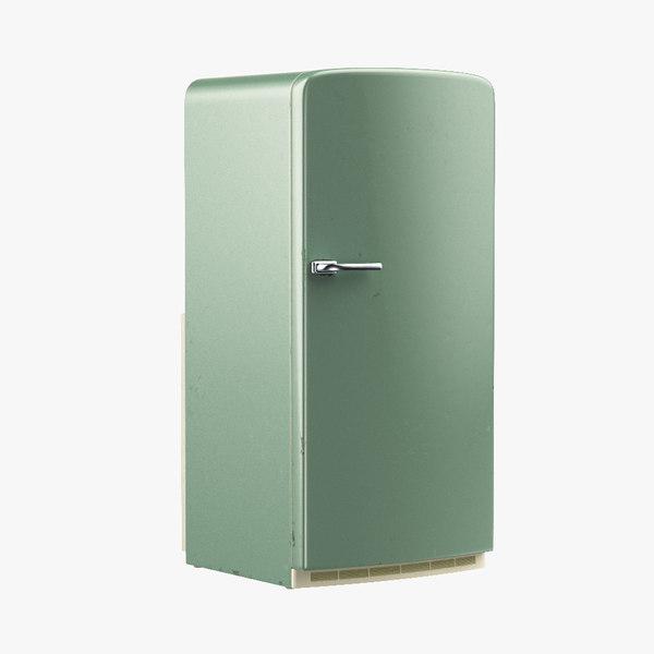 obj vintage refrigerator 1