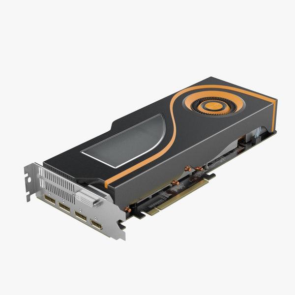 general graphics card component 3d model