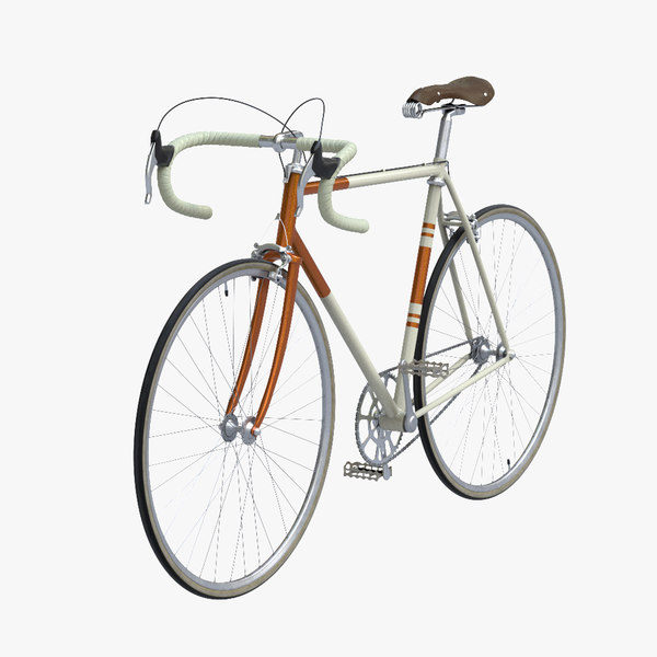 3d vintage bicycle model