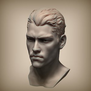 3d zbrush mans head
