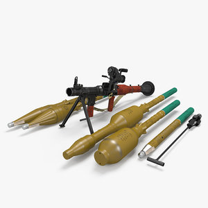 rpg-7 grenade launcher 3D model