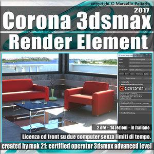 Corona 1.6 in 3dsmax 2017 Render Element Vol 5.0 Cd Front