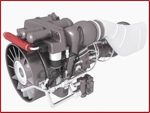 3d apache engine model