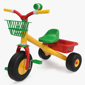 childrens trike tricycle pedal 3D model