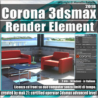 Corona 1.6 in 3dsmax 2018 Render Element Vol 5.0 Cd Front