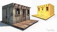 3D wild west jail model