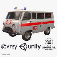 ready uaz 452 2206 3d model