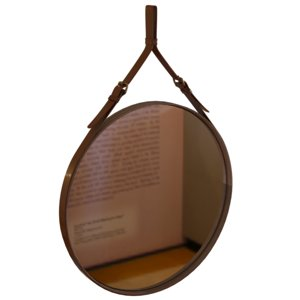 max leather mirror