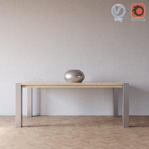 3d model dermi table yolis