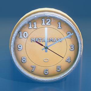 3d model ready vintage wall clock
