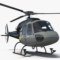 Eurocopter AS355 F Private Helicopter Rigged