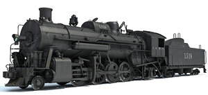 3d steam locomotive train