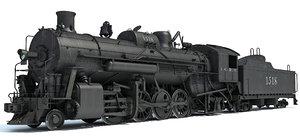 3d steam locomotive train